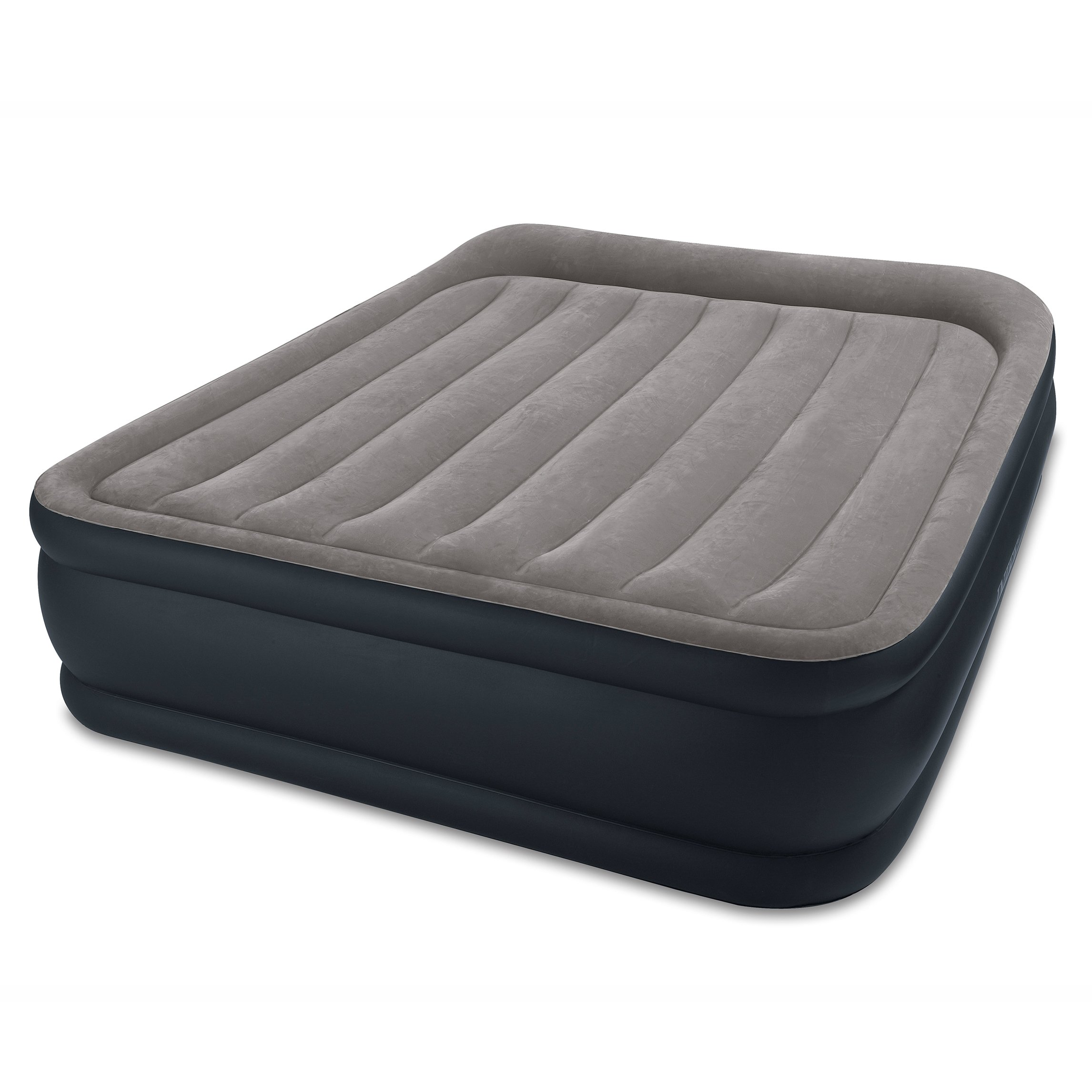"Intex Dura-Beam Standard Series Deluxe Pillow Rest Raised Airbed w/Soft Flocked Top for Comfort, Built-in Pillow & Electric Pump, Bed Height 16.5"", Queen"