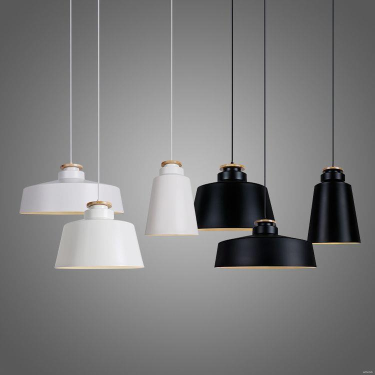 Different Types low price restaurant white black wood Pendant light