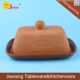 wholesale terracotta butter dish with lid,ceramic butter plate,terracotta butter holder