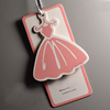 Promotion cheap fashion print garment hang tags with strings and pins