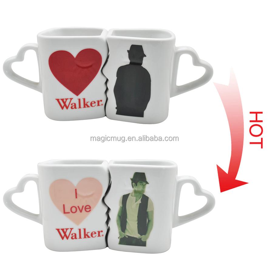 Wedding Souvenirs Custom Color Changing Ceramic Shoe Shaped Mug ...