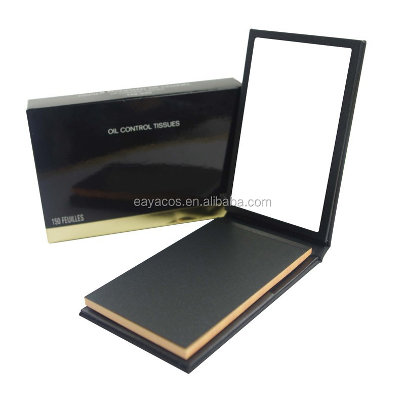 2015 New type Mirror booklet stick package oil blotting paper