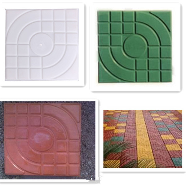 2015 new design plastic mould for concrete pavers concrete colorful garden floor brick and tiles - Brick Garden 2015