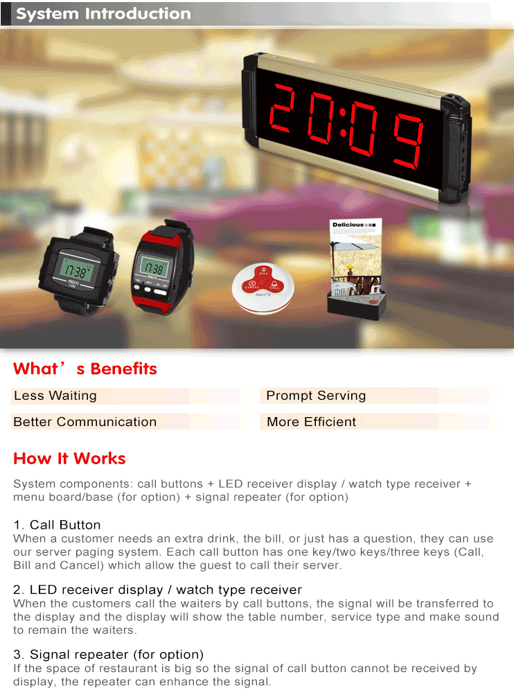 Wireless Restaurant Ordering System