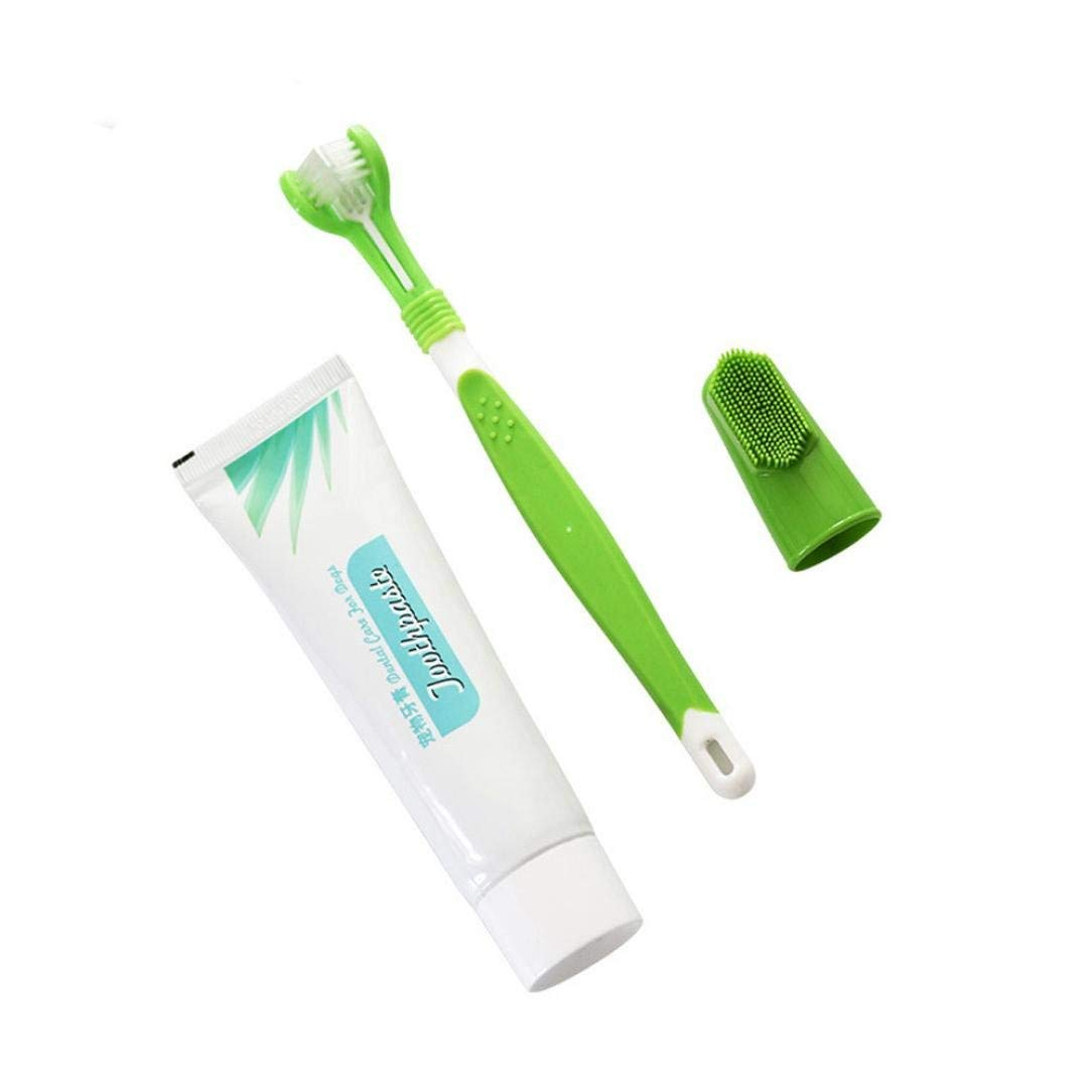 Morecome pet vest Dog Toothbrush,Morecome Finger Brush Toothpaste Kit for Pet Oral Health Care