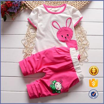 2016new Children's Clothing Cartoon Baby Set T Shirt + Pants ...