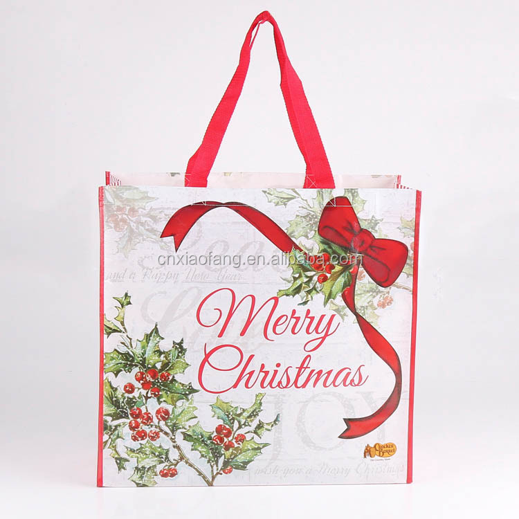 Wholesale personalized christmas gift bags for promotion