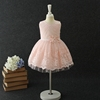 Best selling pink lace flower pattern vintage soft cotton new model girl dress