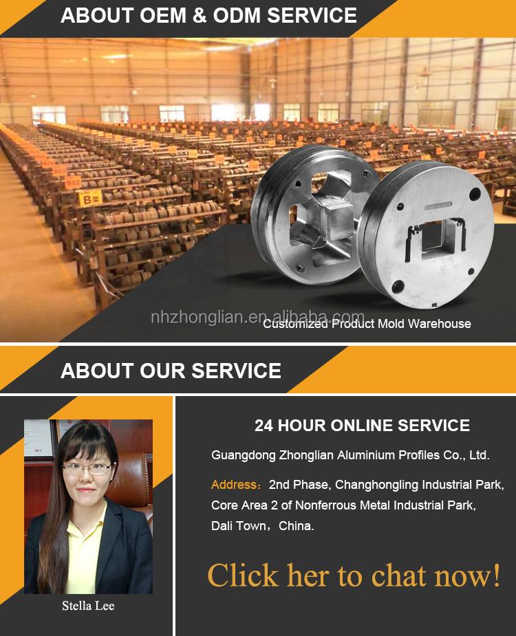 Aluminium extrusie sterft catalogus alu fabriek/geanodiseerd aluminium profiel voor voetstuk/aluminium profielen voor truck body