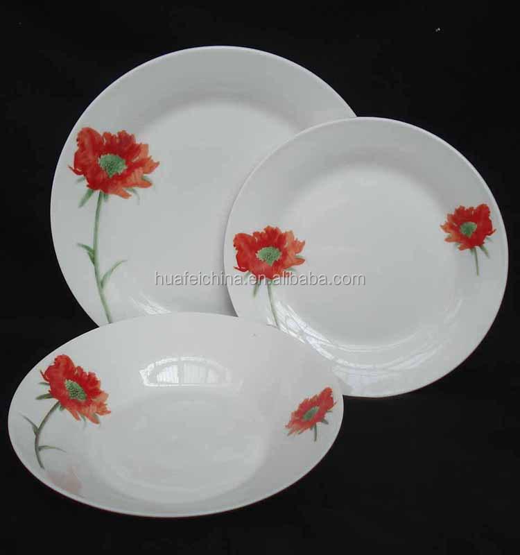 Italian Porcelain Dinner Set Microwave Safe Melamine 12pcs 18pcs