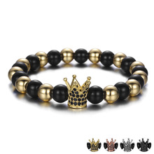 Fashion Gold Stone Crown Bead <span class=keywords><strong>Armband</strong></span> Groothandel NS180925