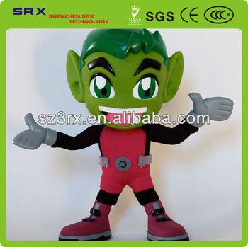 Il ragazzo con capelli verdi fumetto giocattolo di plastica d