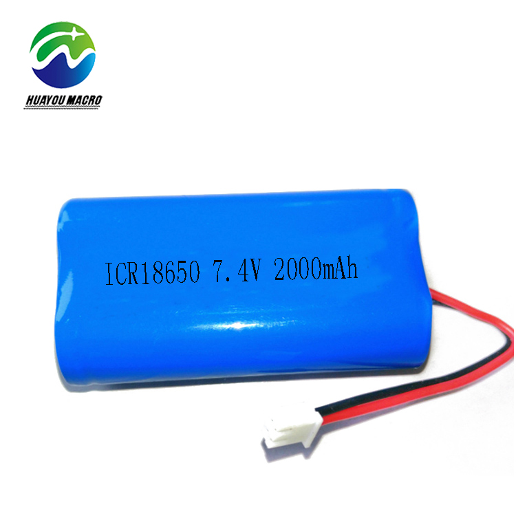 14.8wh Rechargeable 18650 Icr18650 7.4V 2000Mah Li-Ion Li Lithium Ion Battery Pack