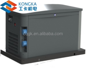 LPG/NG generator set 8kw 10kva with soundproof cabinet