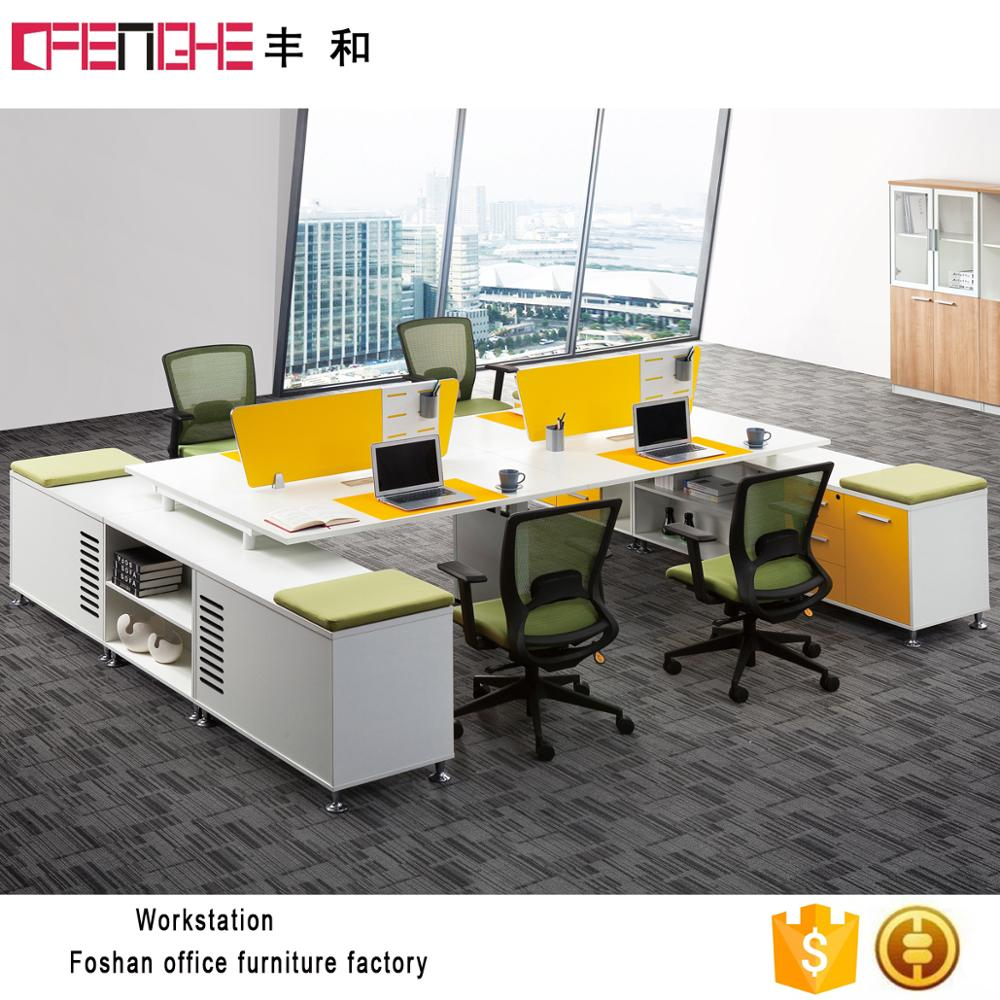 Standard sizes 4 person open space modern furniture modular office workstation