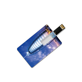 Promotional full color printing business credit custom card USB flash drive 4gb USB-032
