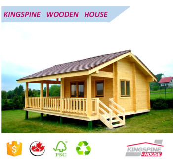 Wooden Log Cabin Prefabricated Wood House With Terrace Low Cost Made In  China For Export KPL