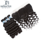 Cambodian Virgin Hair Closure,Bundles Deep Wave Closure And Bundles For Brazilian White Woman