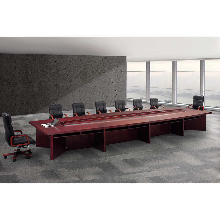 High quality factory price big rectangle office conference tables by durable Solid wood luxury commercial meeting table