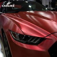 CARLIKE Newest Chrome Brushed Auto Wraps Car Vinyl Stickers