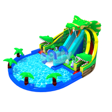 Portable theme park decorations/buy dinosaur inflatable water park in Guangzhou