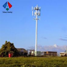 communication single galvanized tube steel monopole computer antenna tower