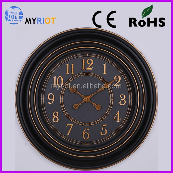 Gold supplier china antique wall clock