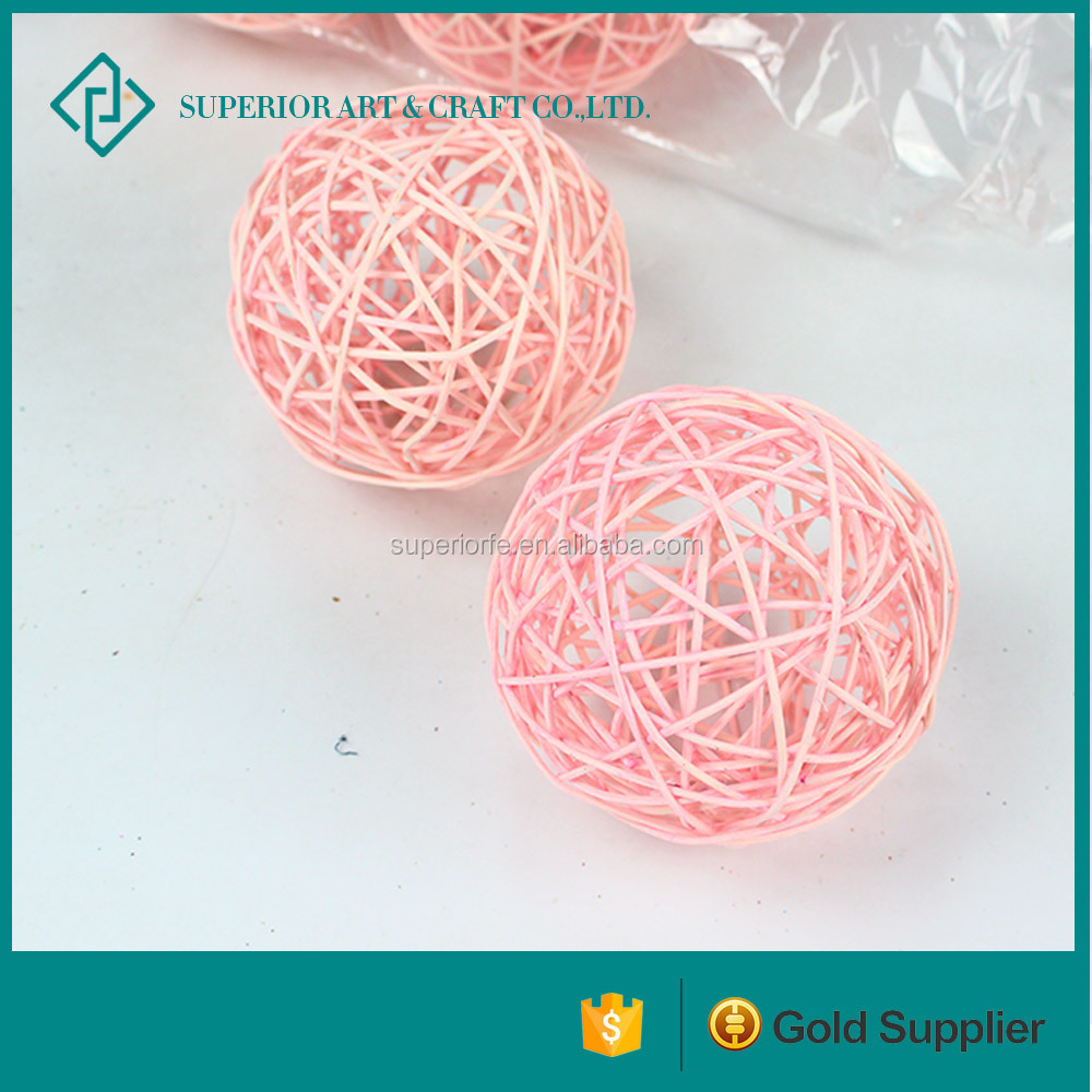 wholesale Pink christmas twig ball for home and party decoration