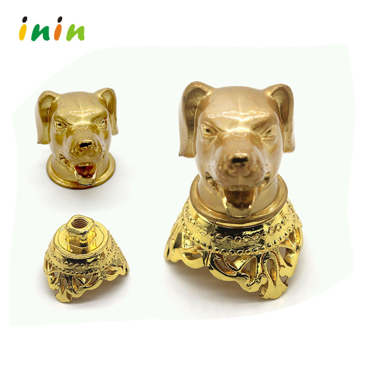Custom wholesale gold metal dog ornaments