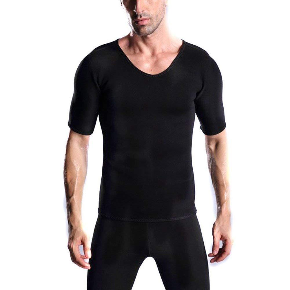 990f631b6a0 MZjJPN Mens Sweat Body Shaper T Shirt Tummy Fat Burner Slimming Sauna  Shirts Weight Loss Shapewear