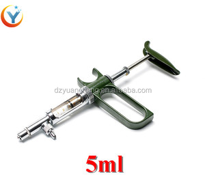 5ml Plastic poultry automatic dose syringe function continuous poultry gun/injector/syringe for veterinary