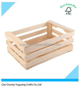 Small Mini Wooden Crate Veg Fruit Crate