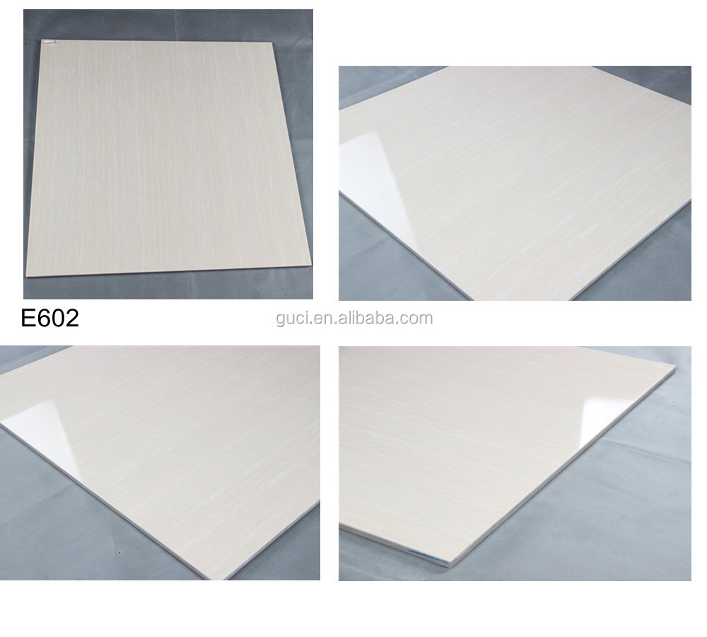 Trade Urance Guangzhou Canton Fair Line High Gloss White Polished 60 Porcelain Floor Tiles