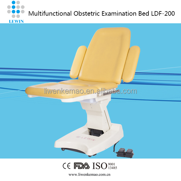 Electro pushing rod examining bed/obstetric examination table CreLife 2000 gynaecology examination table