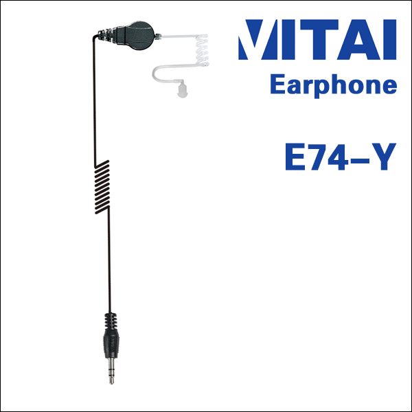VITAI E74-Y Listen Only Transparent Tube Type Bluetooth Earphone Wired for Two Way Radio