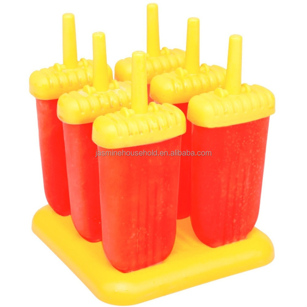 BPA Free Reusable Set of 6 Ice Pop Molds Popsicle Maker