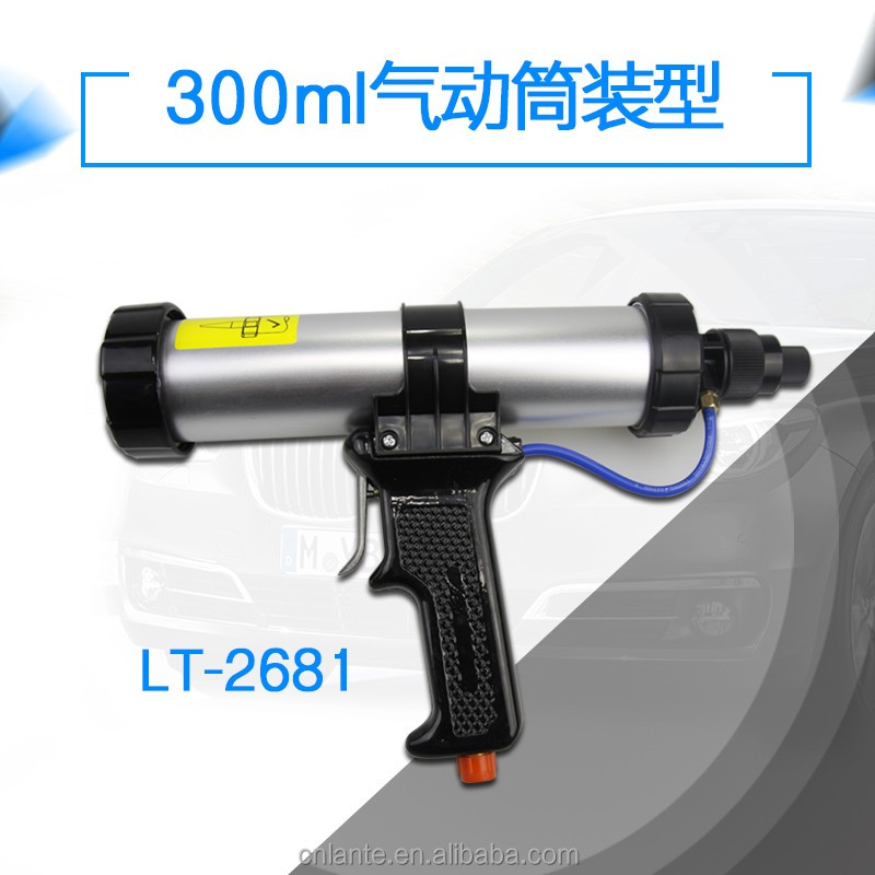Aluminum ally front cover 300ml air caulking gun with new design