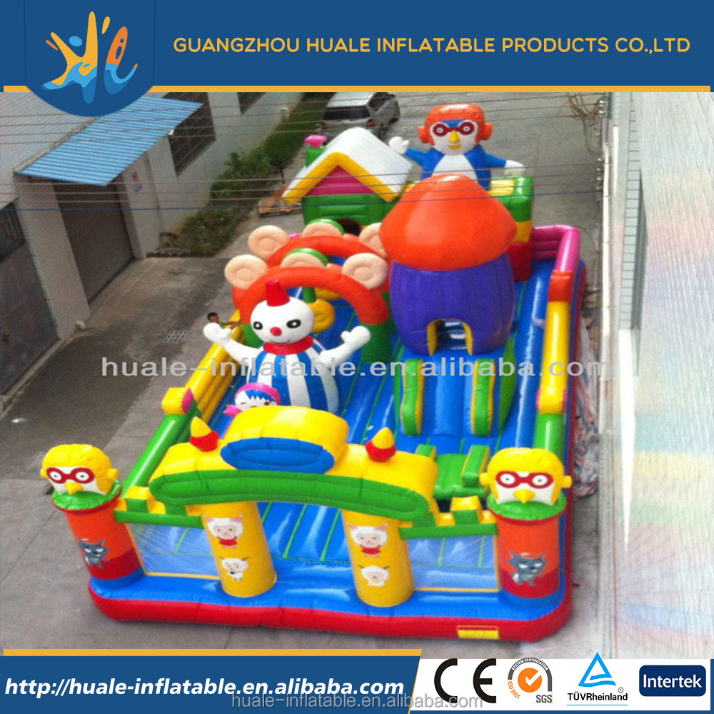 2016 Popular newly Hot selling resonable price giant inflatable castle fun city amusement