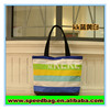 Canvas promotion women tote bag recycle foldable shopping tote bag