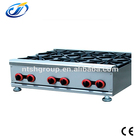Restaurant kitchen use counter top gas stove 6 burner table stoves with oven for sale