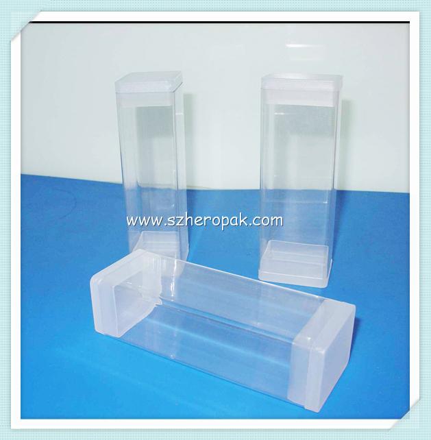 Clear plastic rectangular tube for led light diffusing