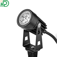Mini 3w modern black landcape outdoor light for stage decoration