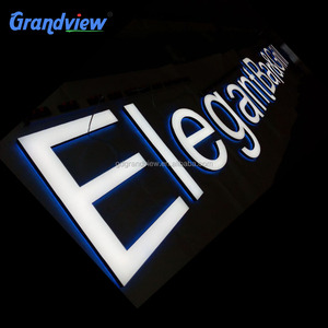OEM design Stainless steel letters sign board for office lobby sign