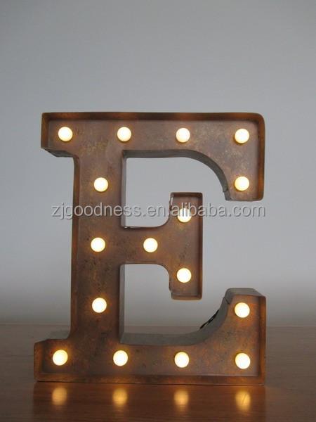Vintage metalen industri le tent licht letter e 13 3 4 tall elektronische borden product id - Licht industriele vintage ...