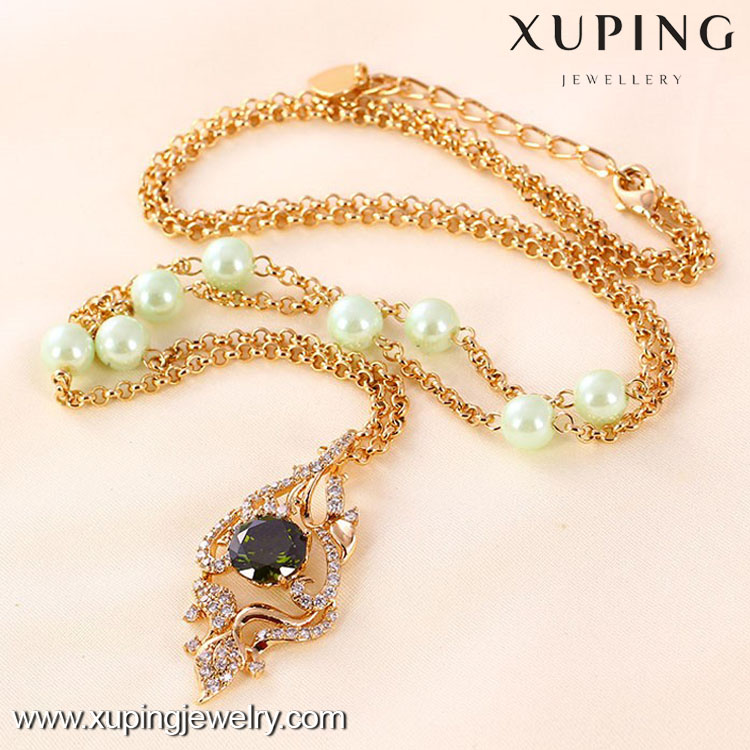 41311-2016 gold necklaces names women's prices 18kgp gold necklace