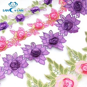 water soluble embroidery 3d lace