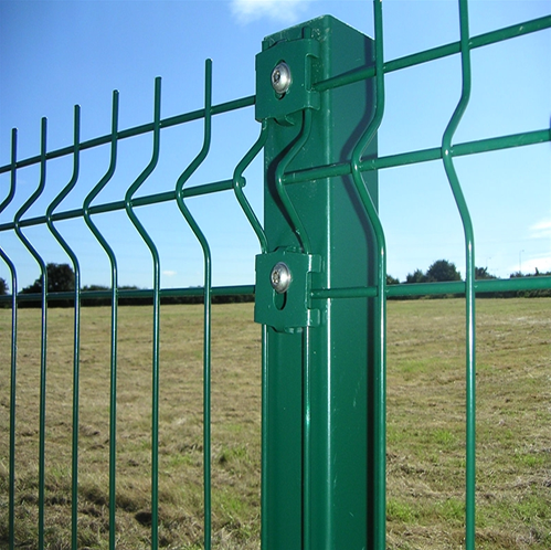 Green Vinyl Coated Welded Wire Plastic Safety Fence Net V