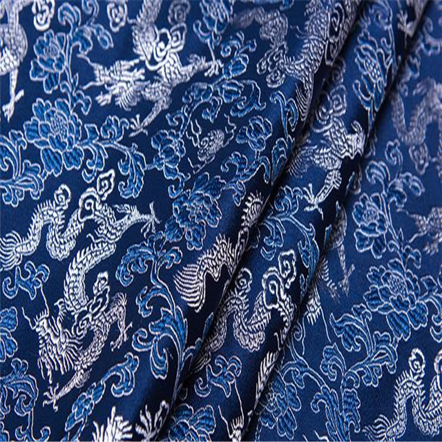 small dragon pattern jacquard 100% polyester brocade fabric for costume