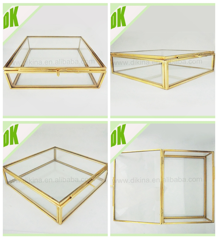 Decorative Display Boxes Alluring Candy Jartrinket Vintage Brass Vitrine Glass Mirrored Large Inspiration Design