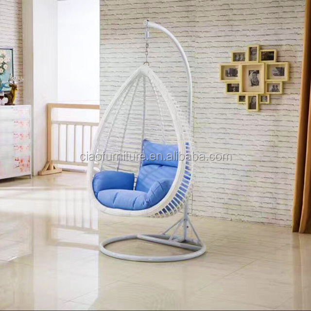 Price White Rattan Swing Chair In